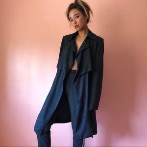 Bardot Draped Trench Coat